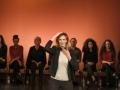 """Theaterprojekt """"WoMan– Von Bitch bis Burka"""",gefluechtete Frauen auf Ehrenamtlerinnen und Frauen aus Business- und Führungspositionen der Deutschen Bank, antagonHalle, Frankfurt/M., 28.10.17, Foto:Tim Wegner, www.timwegner.de"""